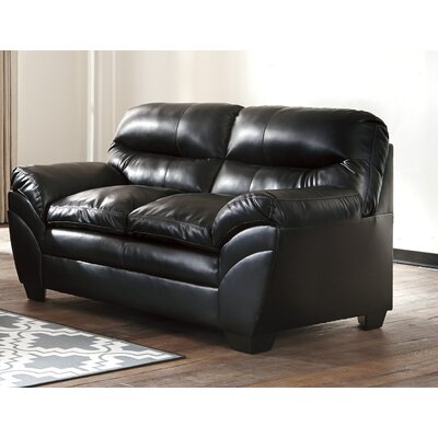 Magan Loveseat Upholstery: Black