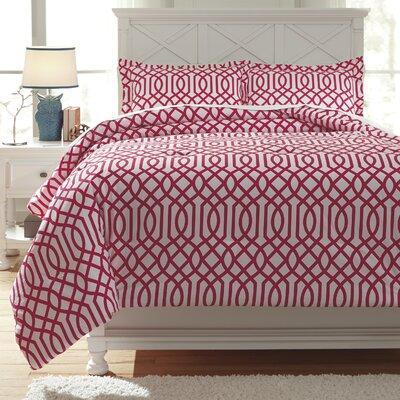 Loomis Comforter Set Size: Twin, Color: Fuchsia
