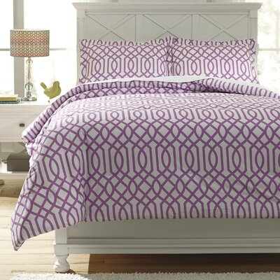 Loomis Comforter Set Size: Twin, Color: Lavender