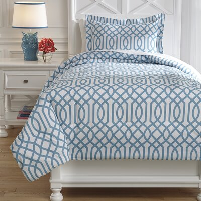 Loomis Comforter Set Size: Twin, Color: Aqua