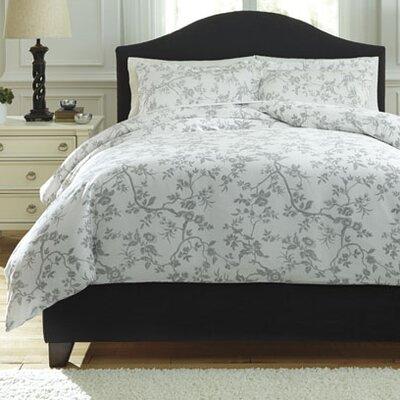 Florina 3 Piece Duvet Cover Set Size: Queen, Color: Gray/White