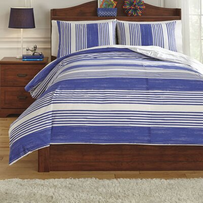 Taries Duvet Cover Set Size: Twin, Color: Blue