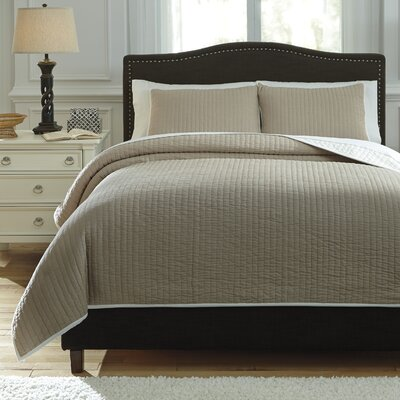 Orson 3 Piece Coverlet Set Size: King