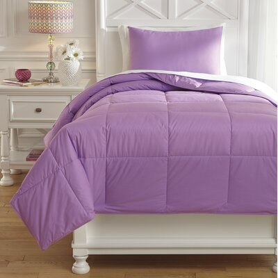 Plainfield Comforter Set Size: Twin, Color: Lavender
