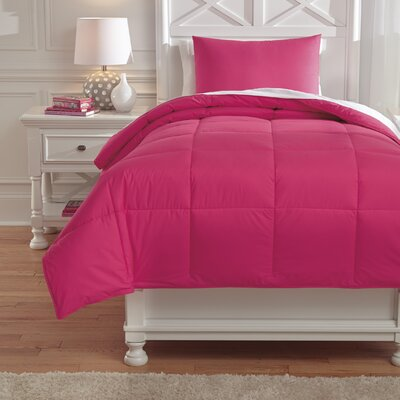 Plainfield Comforter Set Size: Full, Color: Magenta