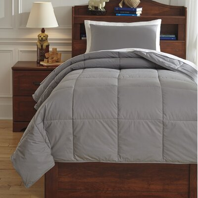 Plainfield Comforter Set Size: Twin, Color: Gray