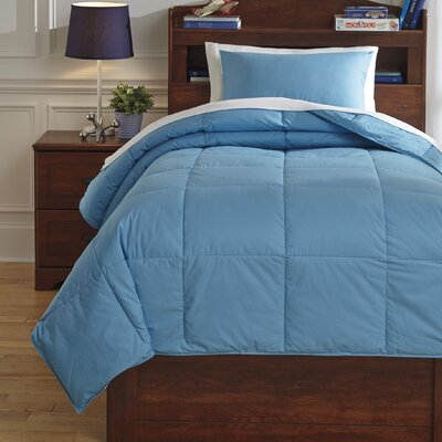 Plainfield Comforter Set Size: Full, Color: Aqua