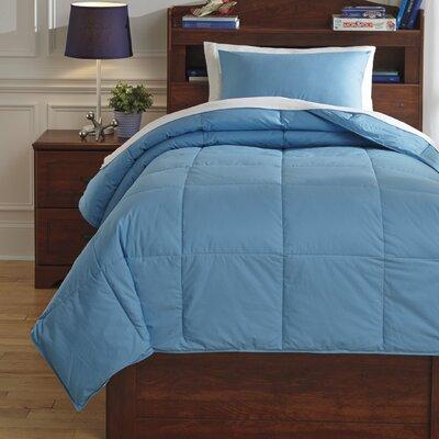 Plainfield Comforter Set Size: Twin, Color: Aqua