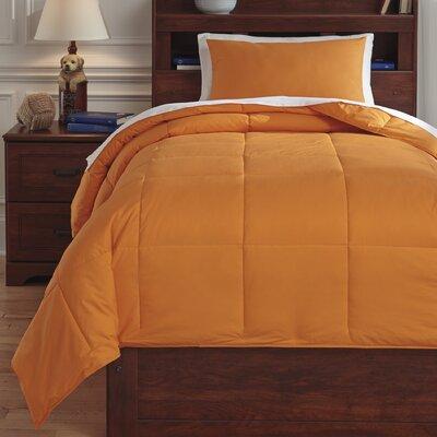 Plainfield Comforter Set Size: Twin, Color: Orange