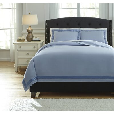 Farday 3 Piece Duvet Cover Set Size: King, Color: Soft Blue