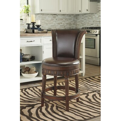 Swivel Bar Stool Finish: Dark Brown