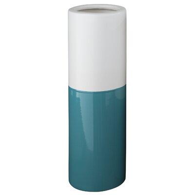 Cylinder Ceramic Vase Color: Blue