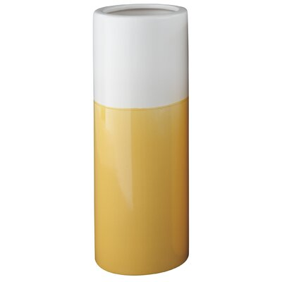 Cylinder Ceramic Vase Color: Yellow