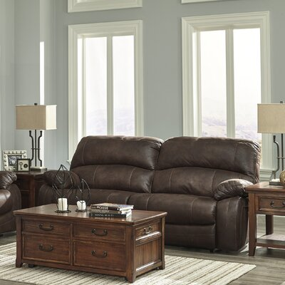 4290191 GNT9553 Signature Design by Ashley Zavier Truffle Glider Reclining Loveseat