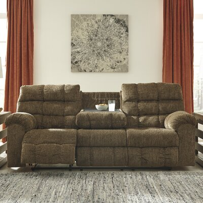 4820089 GNT9574 Signature Design by Ashley Antwan Truffle Reclining Sofa
