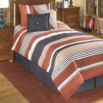 Manning Stripe Comforter Set Size: Full