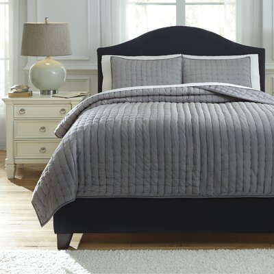 Teague 3 Piece Comforter Set Size: Queen