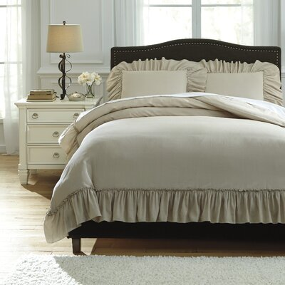 Clarksdale 3 Piece Duvet Cover Set Size: Queen