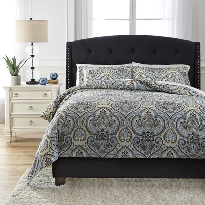 Soliel 3 Piece Duvet Cover Set Size: Queen