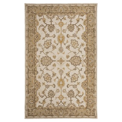 Jinx Hand-Tufted Wool Gold/Beige Area Rug Rug Size: Rectangle 5 x 8