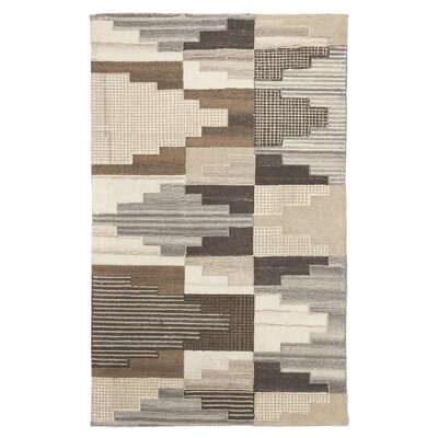 Watnick Hand-Tufted Wool Brown/Gray Area Rug Rug Size: Rectangle 5 x 8