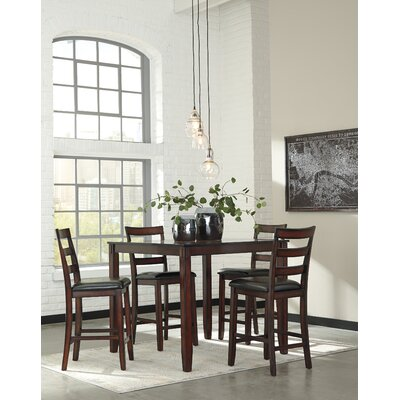 Coviar 5 Piece Counter Height Dining Set