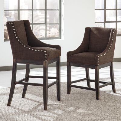 Carbondale 30.25 Bar Stool (Set of 2) Size: 24
