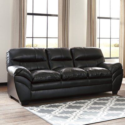 Magan Sofa Upholstery: Black