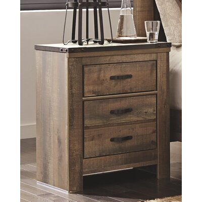 Trinell 2 Drawer Nightstand