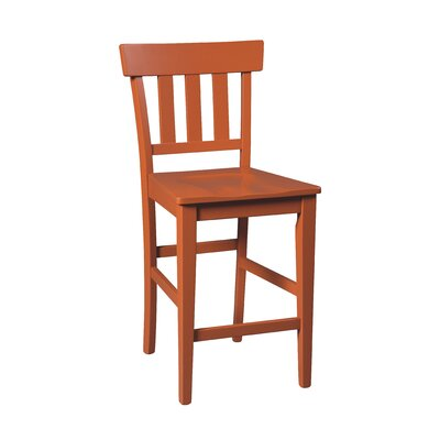 Bantilly 23.75 Bar Stool (Set of 2) Finish: Red