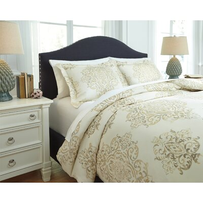 Fairholm 3 Piece Duvet Cover Set Size: Queen, Color: Natural