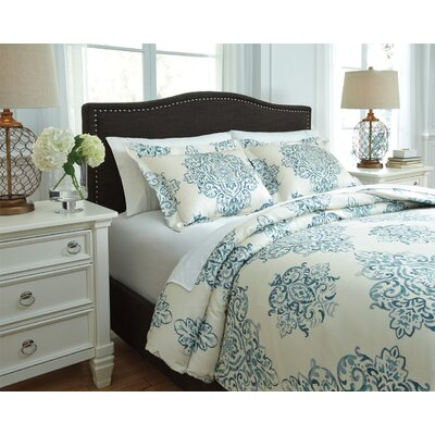 Fairholm 3 Piece Duvet Cover Set Size: King, Color: Turquoise