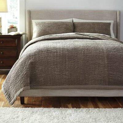 Comforter Set Color: Gray, Size: Queen