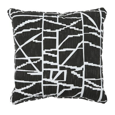 Neve Throw Pillow Color: Black