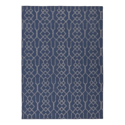 Alfon Blue/Cream Area Rug Rug Size: 8 x 10