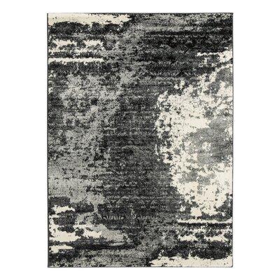 Grus Black/Gray Area Rug Rug Size: 5 x 7