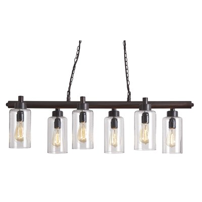 Parth Metal 6-Light Kitchen Island Pendant