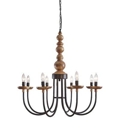 Tatem Metal 8-Light Candle-Style Chandelier