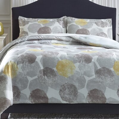 Huenna 3 Piece Comforter Set Size: King