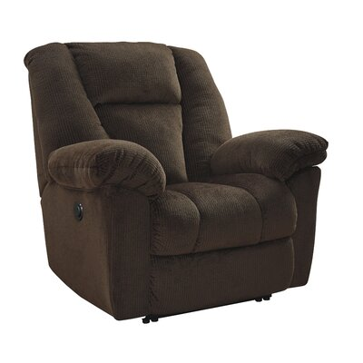 Murillo Power Recliner Upholstery: Chocolate, Reclining Type: Power