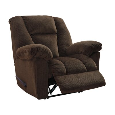 Murillo Power Recliner Upholstery: Chocolate, Reclining Type: Manual