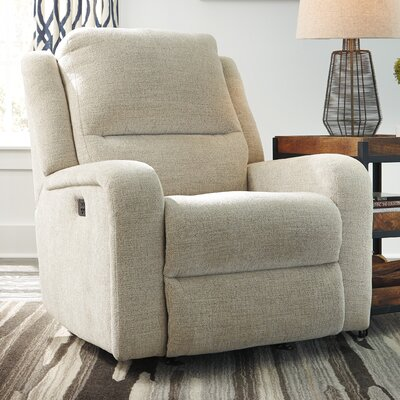 Armatou Power Rocker Adjustable Headrest Recliner Upholstery: Sand