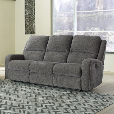 Armatou Reclining Sofa Upholstery: Charcoal