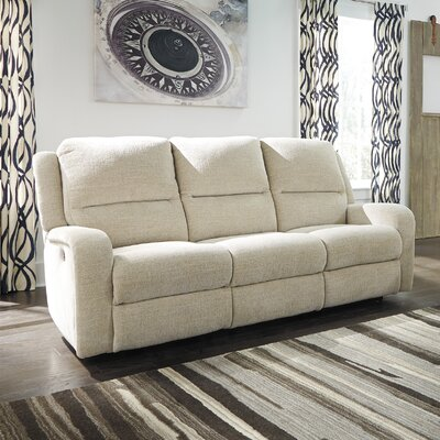 Armatou Reclining Sofa Upholstery: Sand