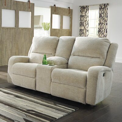 Armatou Reclining Loveseat Upholstery: Sand
