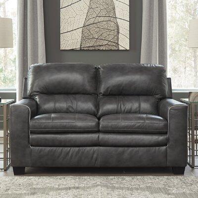 Kolton Loveseat Upholstery: Charcoal