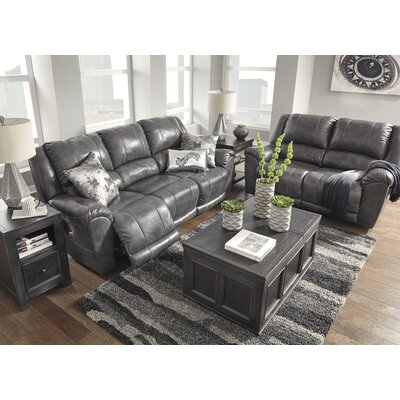Waterloo Rocker Recliner Upholstery: Charcoal, Reclining Type: Power