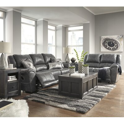 Waterloo Reclining Loveseat Upholstery: Gray, Recliner Mechanism: Manual