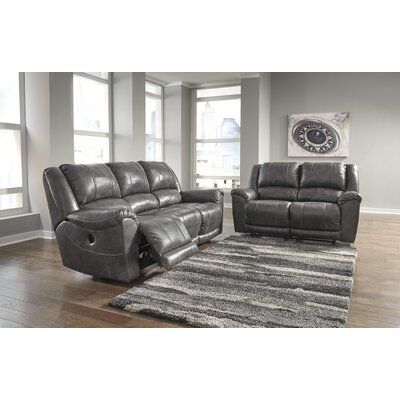 Waterloo Reclining Sofa Upholstery: Brown, Recliner Mechanism: Manual