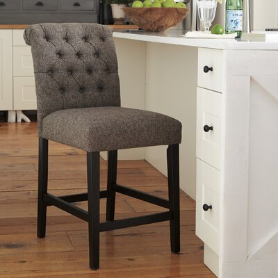 Urbana Upholstered Bar Stool (Set of 2) Upholstery: Gray
